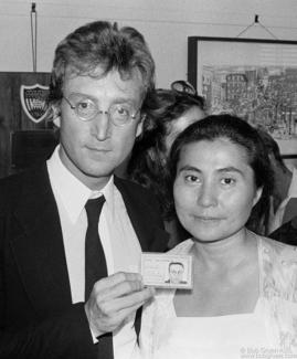 John Lennon and Yoko Ono, NYC - 1976