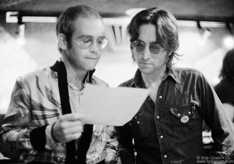John Lennon and Elton John, NYC - 1974