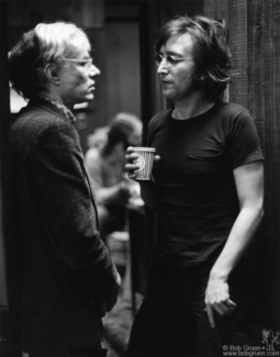 John Lennon and Andy Warhol, NYC - 1972