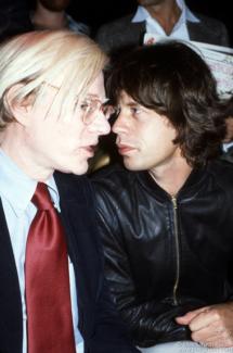 Andy Warhol and Mick Jagger, NYC - 1977