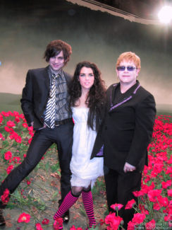 Ryan Adams, Leona Naess and Elton John, NYC - 2002