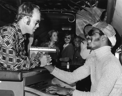 Elton John and Stevie Wonder, MA - 1973
