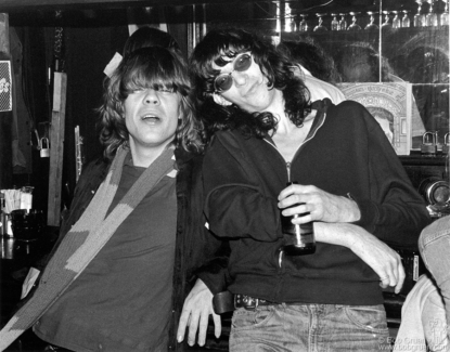 David Johansen and Joey Ramone, NYC - 1976