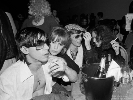 Iggy Pop, Cyrinda Fox, David Bowie and Lisa Robinson, NYC - 1977