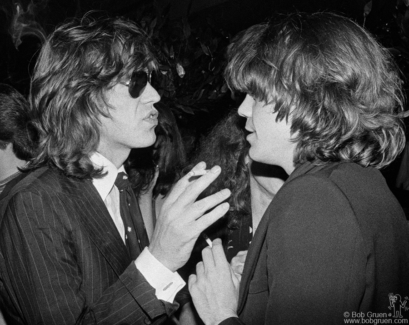 Mick Jagger and David Johansen, NYC - 1976