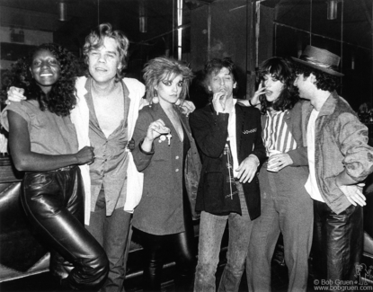 David Johansen, Nina Hagen, Johnny Thunders, Kate Simon and Syl Sylvain, NYC - 1980