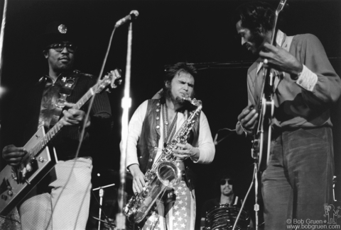Chuck Berry, Bo Diddley, Stan Bronstein and Rick Frank, NYC - 1972