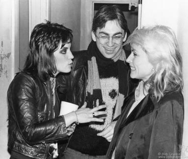 Joan Jett, Chris Stein and Debbie Harry, PA - 1978