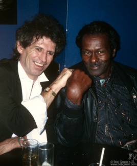Keith Richards and Chuck Berry, NYC - 1987