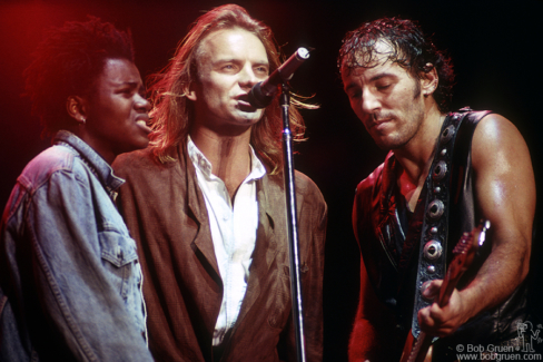 Tracy Chapman, Sting and Bruce Springsteen, PA - 1988