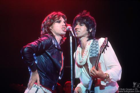 Mick Jagger and Keith Richards, LA - 1975