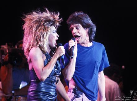Tina Turner and Mick Jagger, PA - 1985
