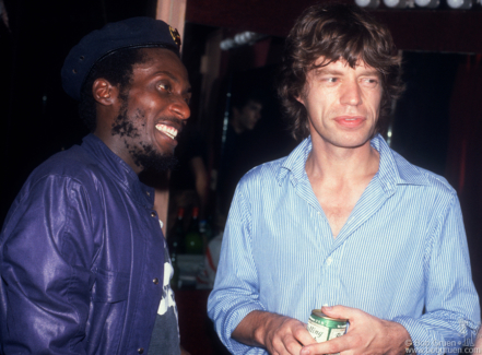 Jimmy Cliff and Mick Jagger, NYC - 1981
