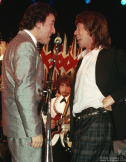 Bruce Springsteen, Bob Gruen and Mick Jagger, NYC - 1988