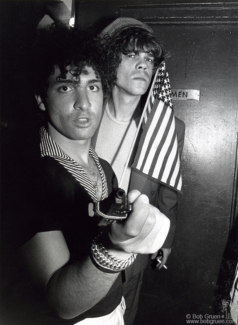 Syl Sylvain and David Johansen, NYC - 1976