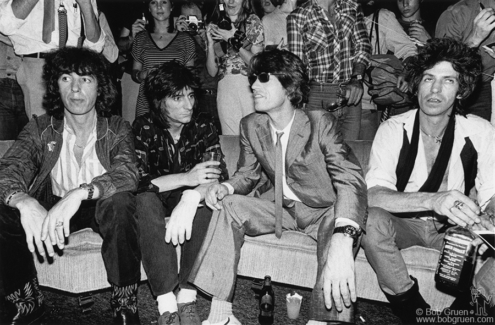 Bill Wyman, Ron Wood, Mick Jagger and Keith Richards, NYC - 1980