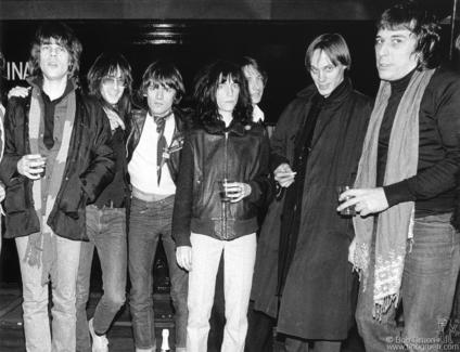 David Johansen, Lenny Kaye, Dee Dee Ramone, Patti Smith, Jay Dee Daugherty, Tom Verlaine and John Cale, NYC - 1976