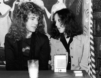 Robert Plant and Lisa Robinson, NYC - 1976