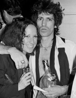 Lisa Robinson and Keith Richards, NYC - 1980