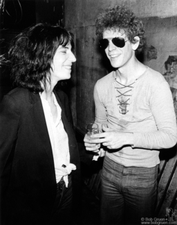 Patti Smith and Lou Reed, NYC - 1976