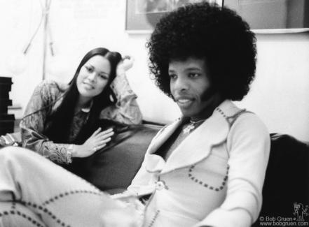 Kathleen Silva and Sly Stone, NYC - 1974